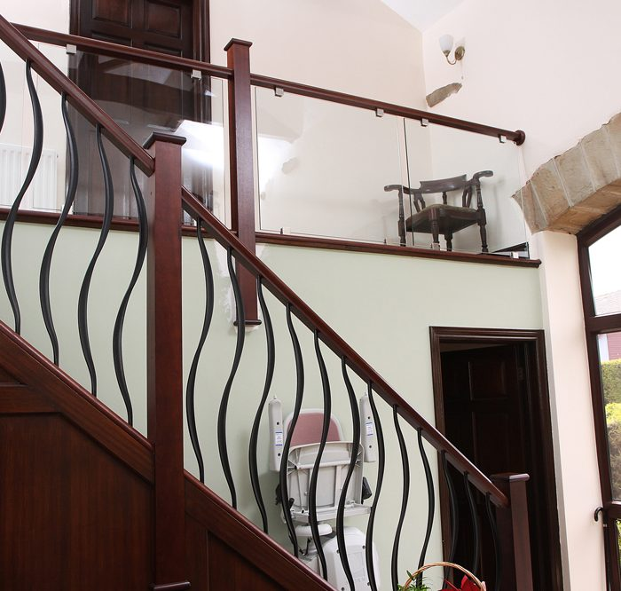 Sapele with forged steel & glass