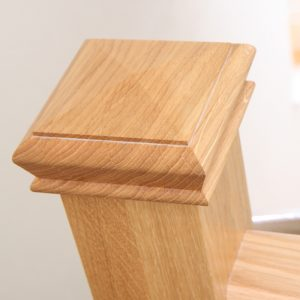 Pyramid oak newel cap from Abbott-Wade Staircases www.abbottwade.co.uk