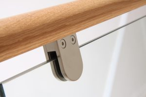Round brushed steel close