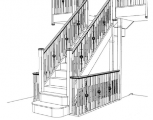 forged steel and oak staircase
