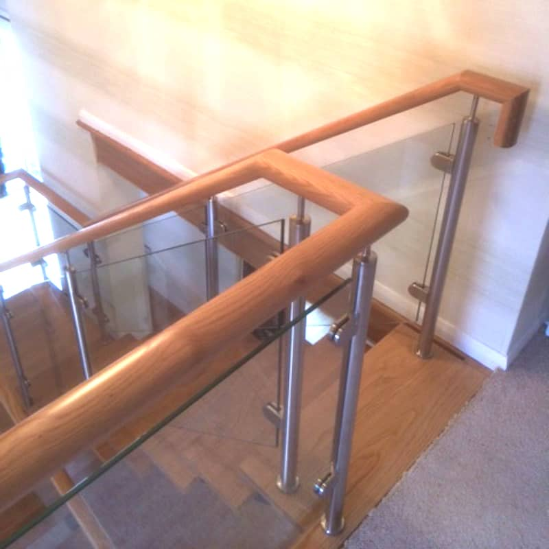 Steel & oak handrail renovation