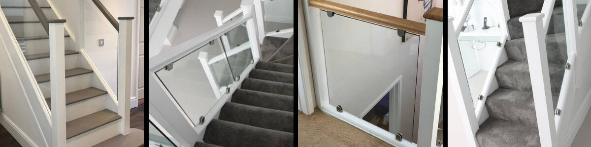 Refresh Your Home by Adding a White Staircase with Glass