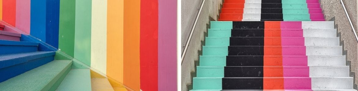 Colourful staircase ideas to brighten up your home